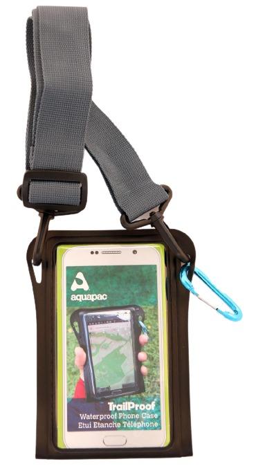 TrailProof Phone Case schwarz mit Schultergurt grau