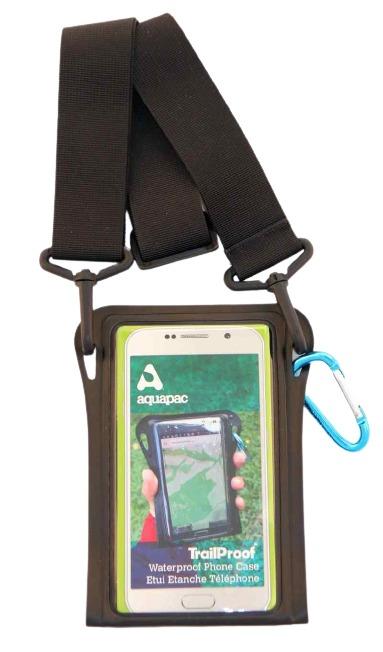 TrailProof Phone Case schwarz mit Schultergurt schwarz
