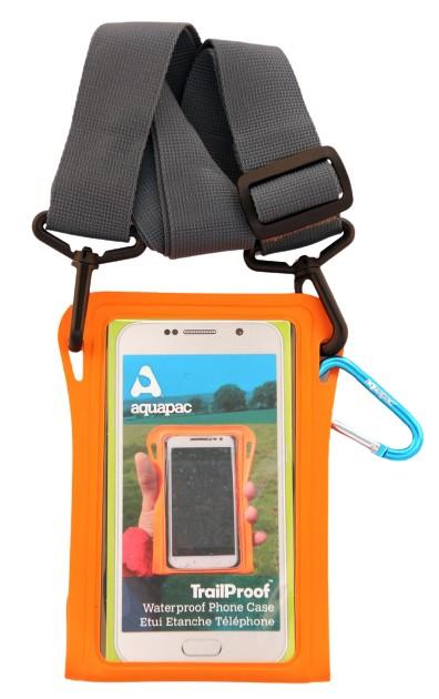 TrailProof Phone Case orange mit Schultergurt grau