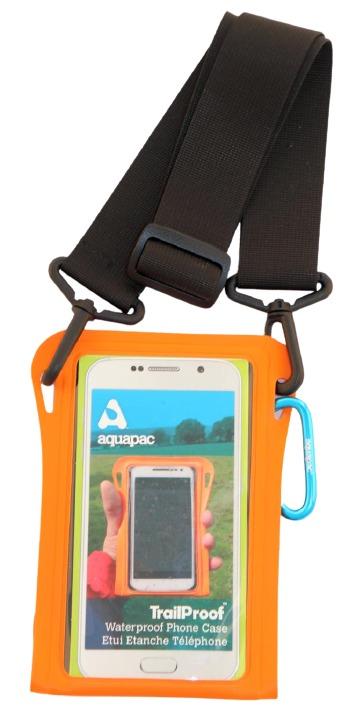 TrailProof Phone Case orange mit Schultergurt schwarz