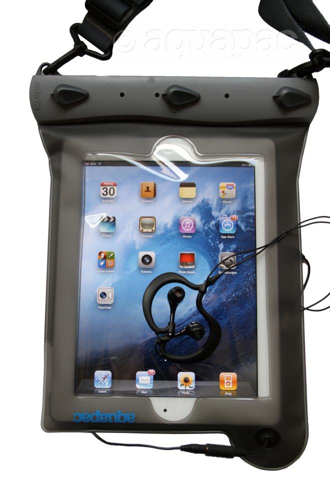iPad™-Case slim: Set mit Kopfhörer wasserdicht